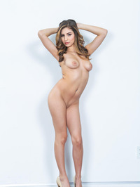 Sexy Brunette Nina North Strips And Poses Naked 10