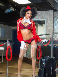 Sexy Stewardess Luna Corazon Strips Off Her Uniform 01