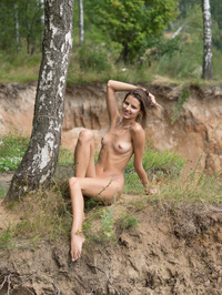 Slim Brunette Sandra Lauver Naked In The Nature 03