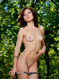 Florina Poses Naked In The Nature 00