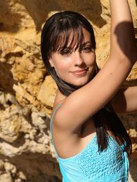 Brunette Cutie Lorena Garcia Behind Rocks 00