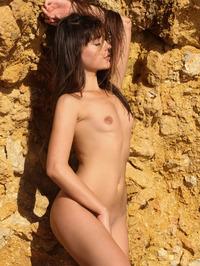 Brunette Cutie Lorena Garcia Behind Rocks 20