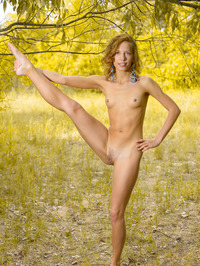 Smiley Russian Girl Ovta Naked In The Nature 03