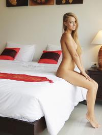 Gorgeous Stella Lane Masturbates On A Bed 15