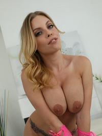 Big Boobed Blonde Babe Britney Amber Stripping 11