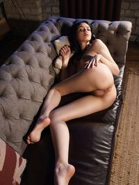 Tiny Teen Girl Mimi Naked On The Sofa 04