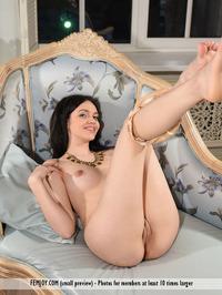 Tiny Teen Girl Mimi Naked On The Sofa 08