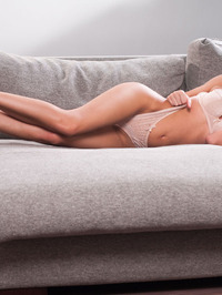 Lindsey Gets Horny In The Couch 02