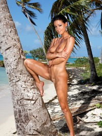 Melisa Mendiny Nude On The Beach 03