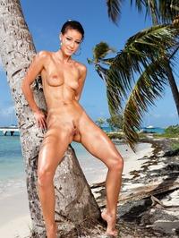Melisa Mendiny Nude On The Beach 05