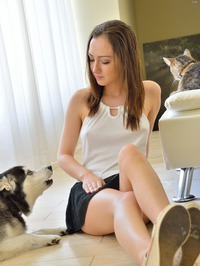 Lily Shows Her Shaved Pussy 10