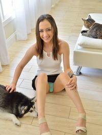 Lily Shows Her Shaved Pussy 11