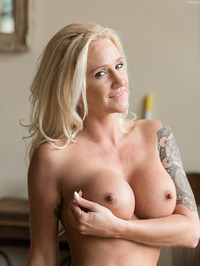 Busty Tattooed MILF Alexis Spreads Her Pussy 11