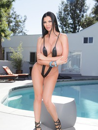 Hot Silicon Babe By The Pool 00
