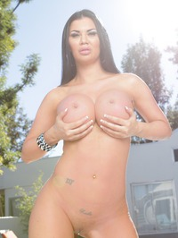 Hot Silicon Babe By The Pool 12