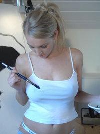 Pretty Blonde Hayley Marie Likes Art 04