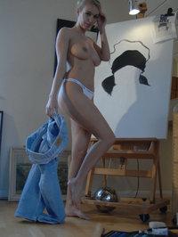 Pretty Blonde Hayley Marie Likes Art 10