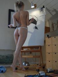 Pretty Blonde Hayley Marie Likes Art 11