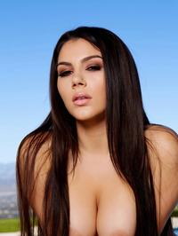Busty Latina Babe Valentina Nappi Strips On The Poolside 20