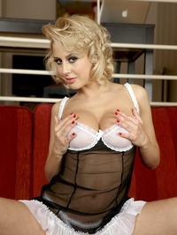 Busty Blonde Mandy Dee Strips Off Her Cute Babydoll 01