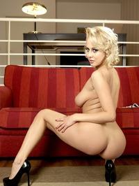 Busty Blonde Mandy Dee Strips Off Her Cute Babydoll 13