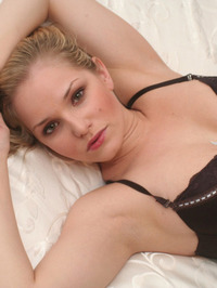 Lizzie Teases In Brown Lace 05