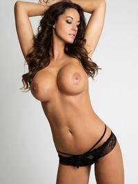 Attractive Busty Brunette In Black Lingerie 06