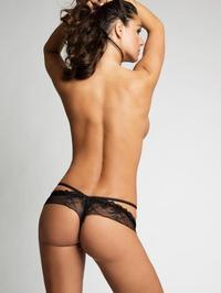 Attractive Busty Brunette In Black Lingerie 09