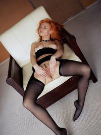 Redhead Zarina Spread Legs Wide Open 06