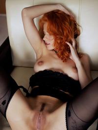 Redhead Zarina Spread Legs Wide Open 07