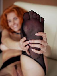Redhead Zarina Spread Legs Wide Open 12