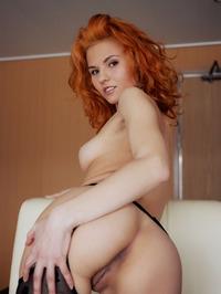 Redhead Zarina Spread Legs Wide Open 17