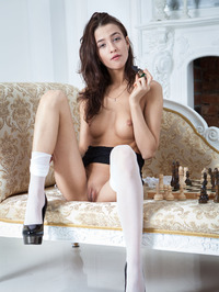 Layna In Chess Match Naked 04