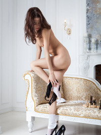 Layna In Chess Match Naked 05