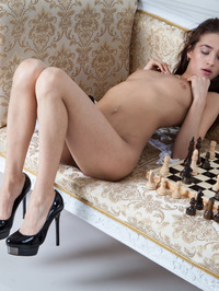 Layna In Chess Match Naked 06