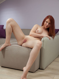 Redhead Babe Paige Naked In Couch 09
