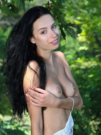 Dita V Naked In The Forest 01