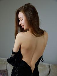 sexy in her little black dress 02