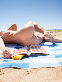 On the beach with hipster Tempe, Latvia's gorgeous blonde babe 11