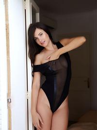 Posing in black high heels 02