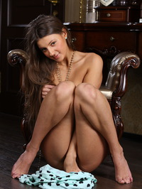 Tanned beauty Melena A looks stunningly cute 09