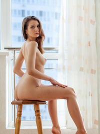 Nurra Poses Nude By The Window 03