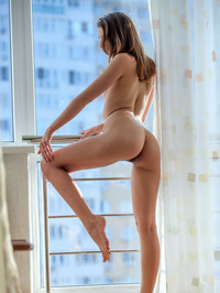 Nurra Poses Nude By The Window 14