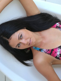 Macy Gets Naked In The Pool 00