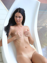 Macy Gets Naked In The Pool 07