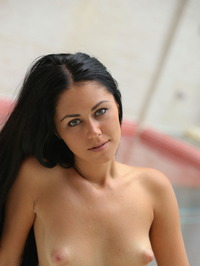 Macy Gets Naked In The Pool 20