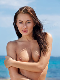 Perfect Teen Michaela Isizzu Naked On The Beach 10