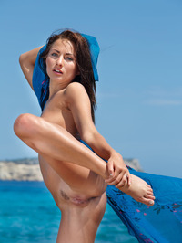 Perfect Teen Michaela Isizzu Naked On The Beach 17