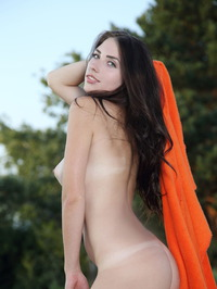 Sexy Niemira Is Posing Naked On The Beach 19