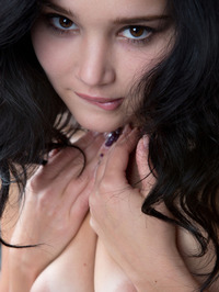 Raven Haired Beauty Malena Nude In Her Bed 00